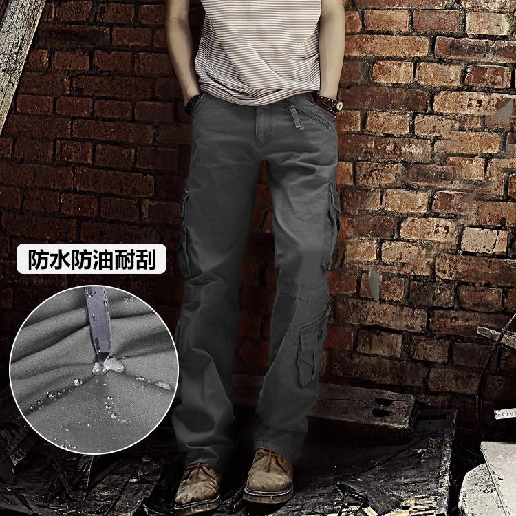 多口袋戶外迷彩工裝褲軍迷風戰術褲大口袋工作褲 耐磨透氣工裝褲 迷彩軍迷褲 大碼工裝褲