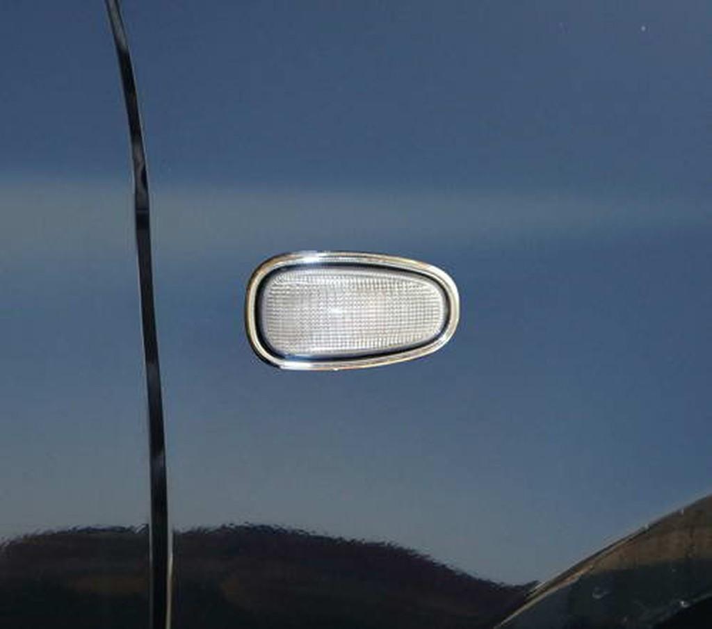 ~圓夢工廠~ Opel Astra 1998-2004 鍍鉻側燈框 鍍鉻方向燈框
