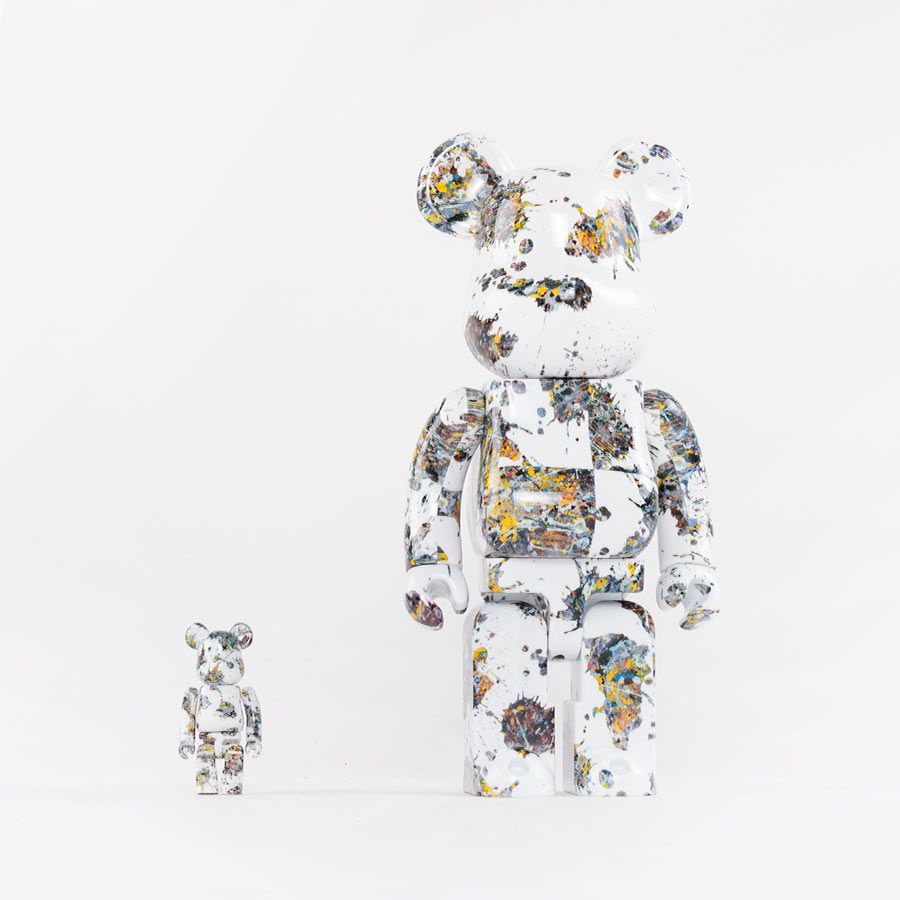 【万乚】BE@RBRICK Jackson Pollock Studio (Splash)潑墨 100% & 400%