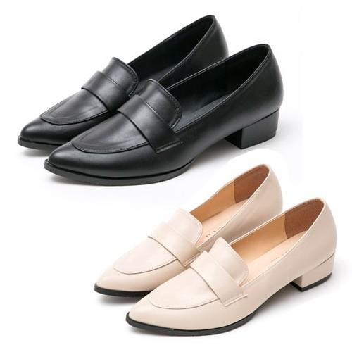 【白鳥麗子】小皮鞋 MIT簡約知性純色低跟樂福包鞋