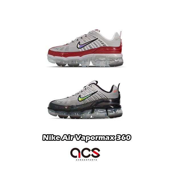 Nike 慢跑鞋 Air Vapormax 360 銀 灰 紅 任選 女鞋 泡棉中底 運動鞋 大氣墊【ACS】