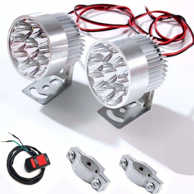 LED 車燈 日行燈 電動車燈超亮電瓶車三輪摩托車前大燈貨車LED射燈改裝外置燈強光