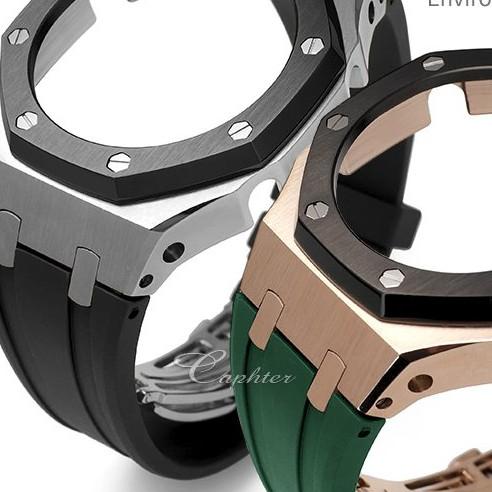 改裝配件卡西歐手錶GA-2100 2110改錶帶錶殼AP農家橡樹三代膠帶男