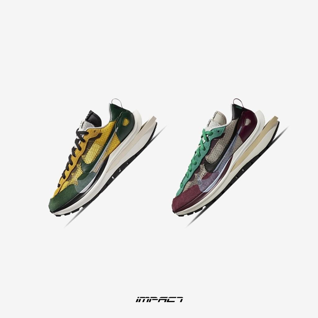 Sacai x Nike Vaporwaffle 酒紅 黃綠 DD3035-200 CV1363-700 IMPACT