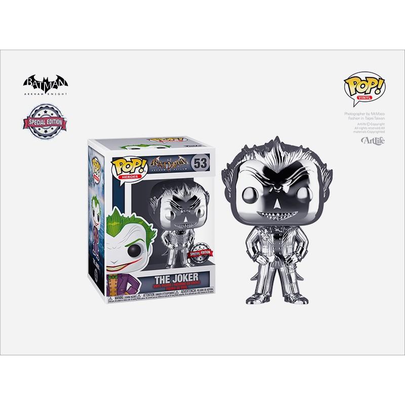 Artlife ㊁ FUNKO POP DC Batman ArkhamJoker Silver 阿卡漢小丑 鍍銀限定版