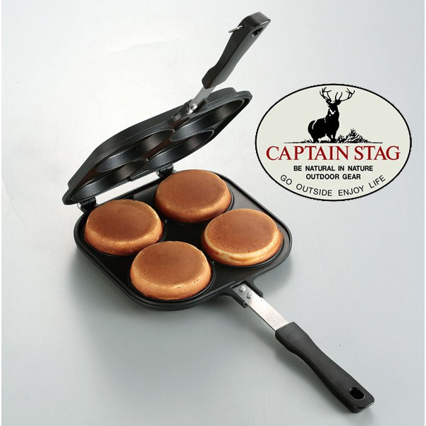 【CAPTAIN STAG 鹿牌 日本】紅豆餅煎夾 紅豆餅烤盤 (UG-3006)