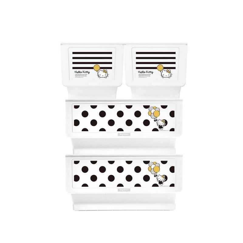完美主義│Kitty黑點點款白底+黑條紋白底大嘴鳥整理箱(混裝) MIT台灣製 樹德 收納櫃 收納【R0197】