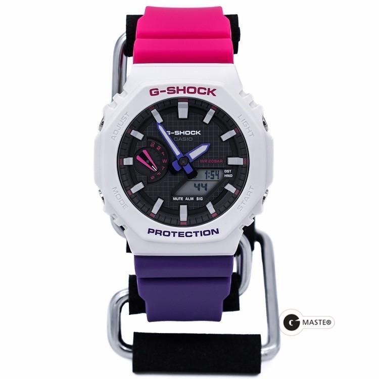 卡西歐G-SHOCK八角形碳纖維農家橡樹灰色男女手錶GA-2110ET-2A/8A