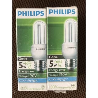 出清 PHILIPS 飛利浦 Genie 5W 2U省電燈泡 壽命一萬小時 E27燈座 迷你款高10公分 白光/ 晝化光 新北市
