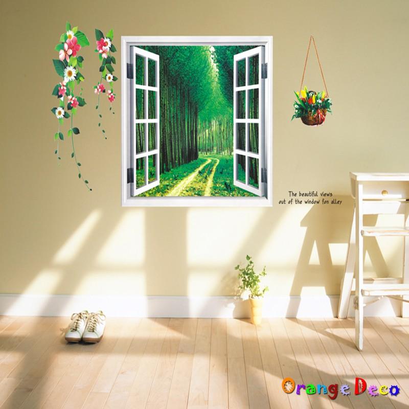 【橘果設計】窗外樹林 壁貼 牆貼 壁紙 DIY組合裝飾佈置