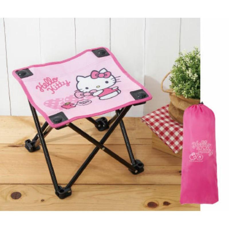 Hello Kitty 休閒好攜帶摺疊椅 戶外椅 野餐椅 排隊椅(附袋)