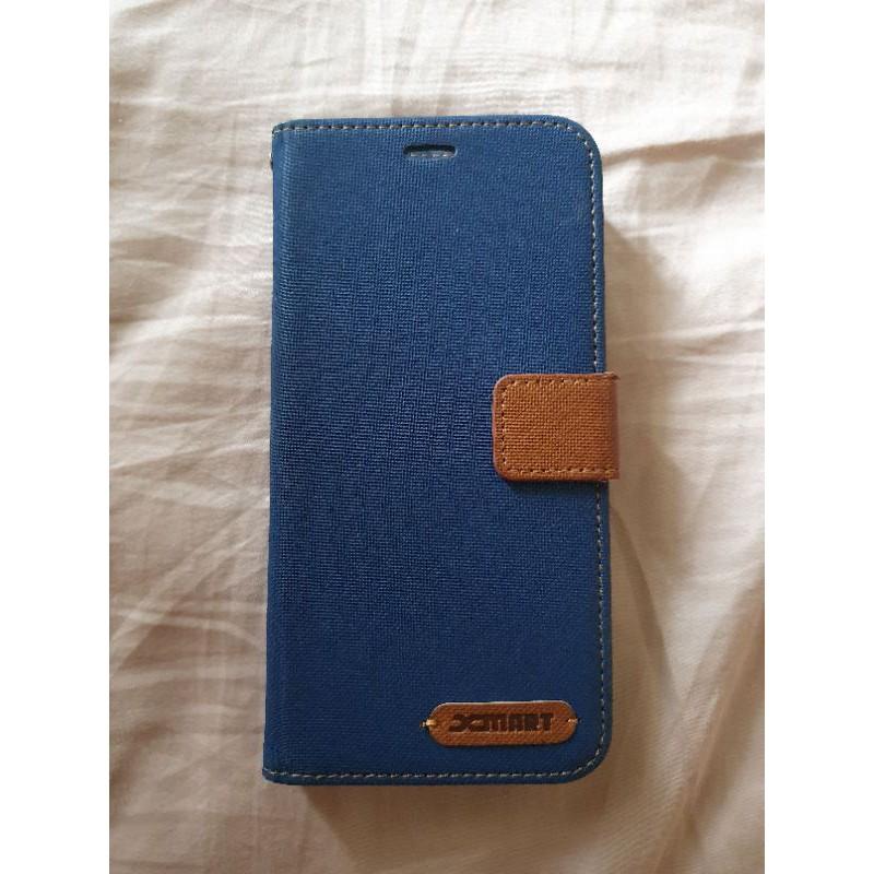 【二手商品出清】Samsung S8+ S8plus Xmart 掀背式皮套 深藍色