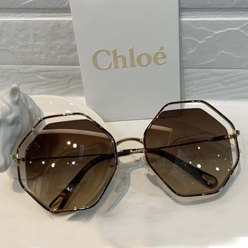 Chloe 八角型時尚造型款太陽眼鏡(琥珀)