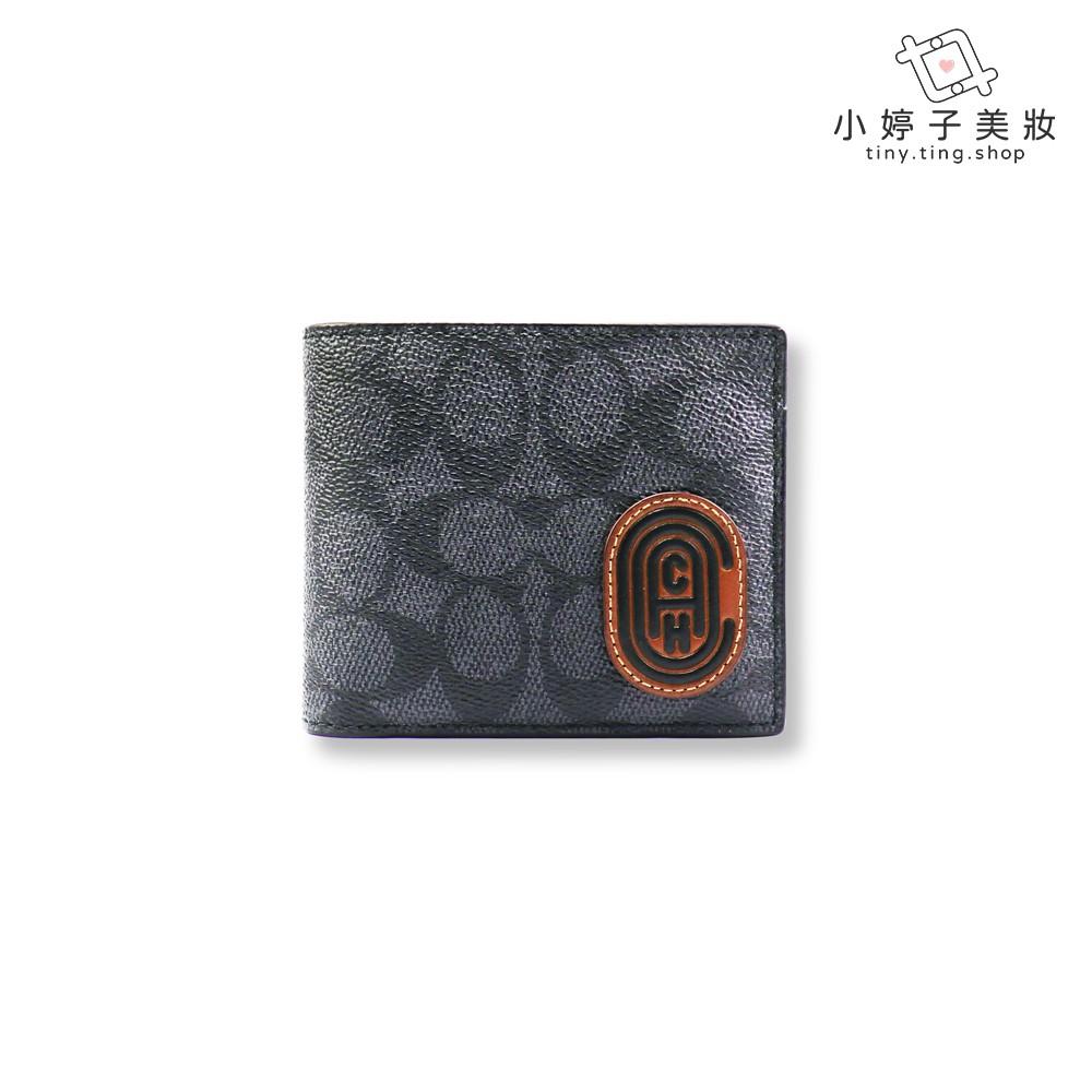 COACH 拼貼三合一LOGO帆布皮夾 木炭灰/運動藍 台灣專櫃購入 小婷子美妝