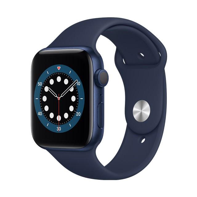 Apple Watch S6 GPS, 44mm 藍色鋁金屬錶殼 海軍深藍色運動型錶帶 _ 台灣公司貨 + 贈