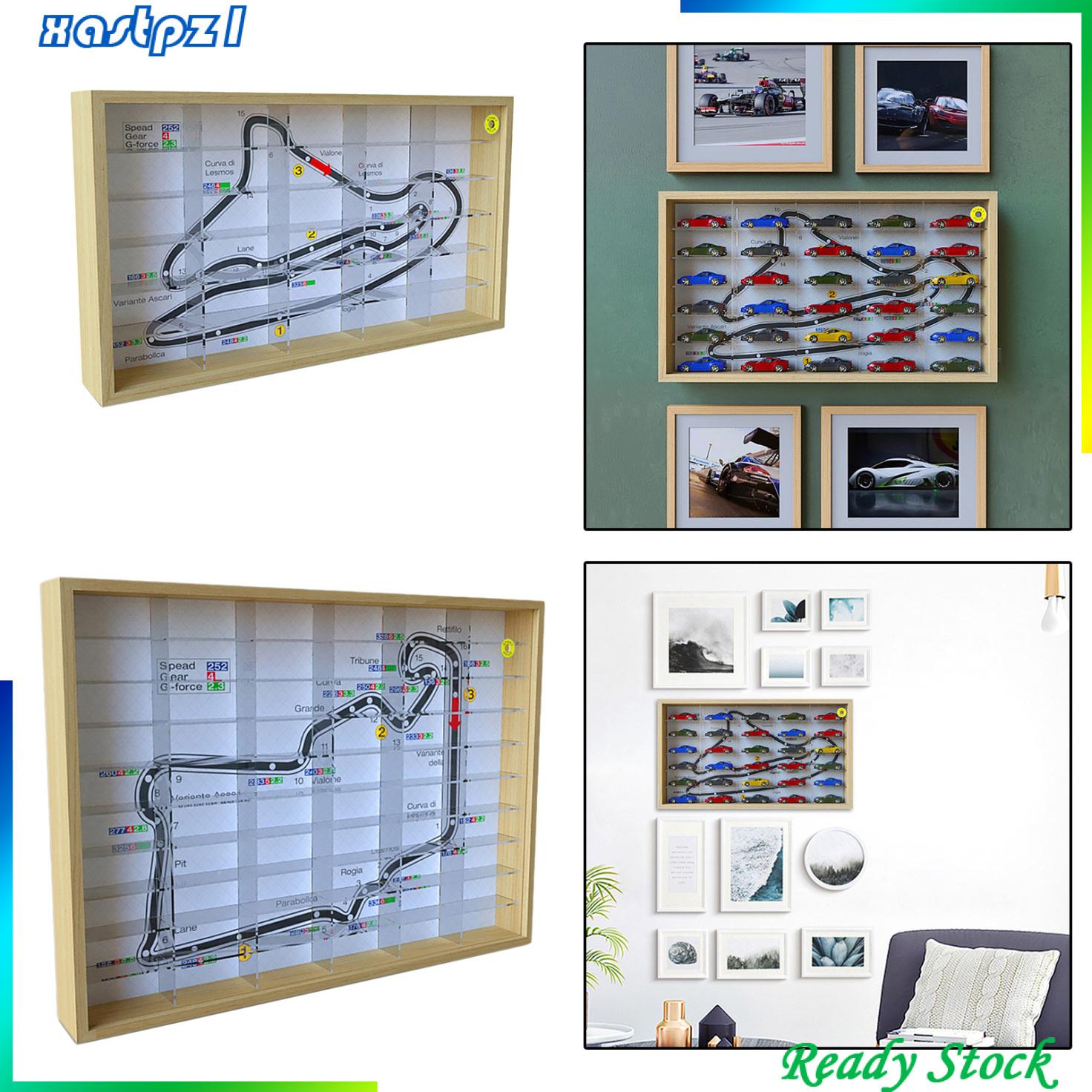 1: 64 個展示櫃儲物盒展示盒, 用於 1: 64 汽車模型插槽