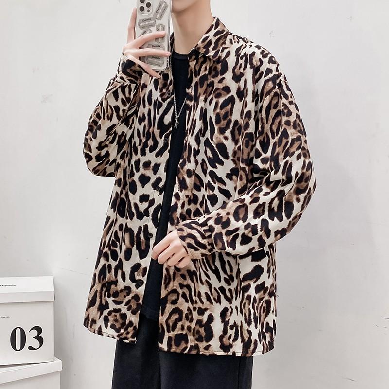 Maxy - 早春 IN 動物時尚 豹紋花樣 襯衫