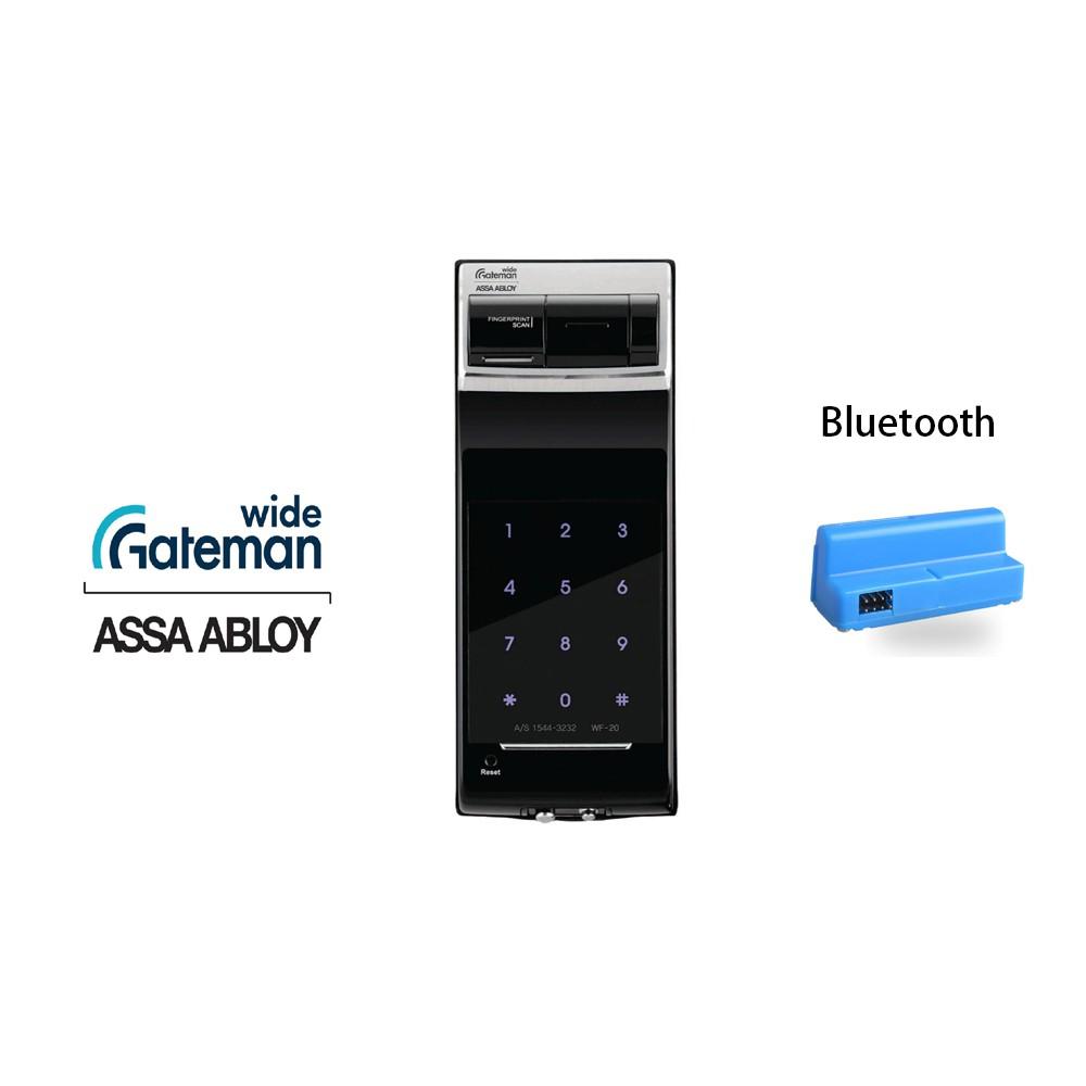 韓國GATEMAN WIDE 電子鎖WF20指紋 密碼 藍芽  3合一電子輔助門鎖【原廠耶魯旗艦館】