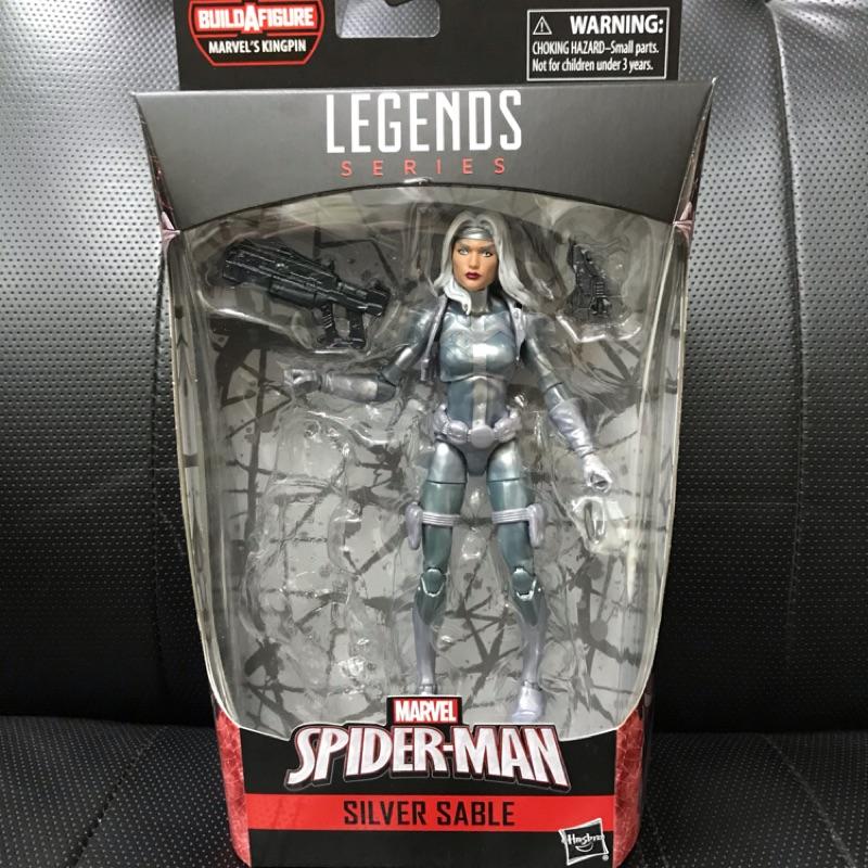 (卡司 正版現貨)Marvel legends 6吋 銀貂 Sable 銀雕 漫威 蜘蛛人 金霸王套 (無baf)