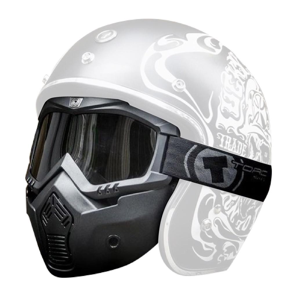 [安信騎士] TORC T50 Mask 鬼面罩 可拆式 越野 風鏡 抗UV 鏡片 半罩安全帽 通用型