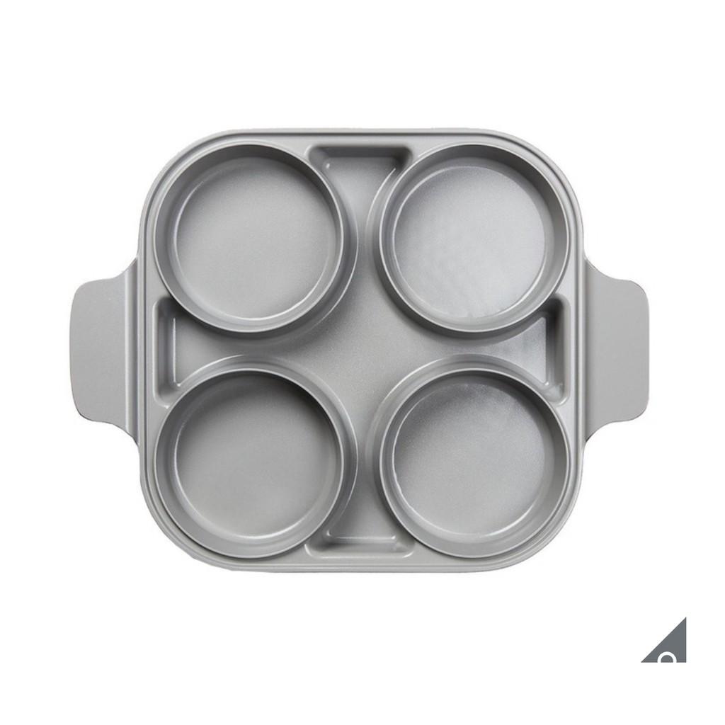 Neoflam 雙耳四格多功能煎鍋含蓋 28 公分