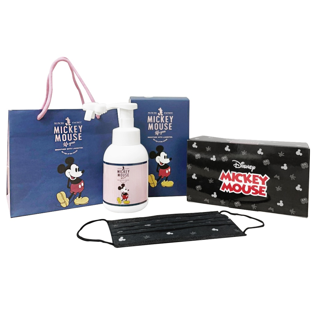 Holic 迪士尼米奇成人平面口罩盒裝慕斯3件組(萊潔製造)