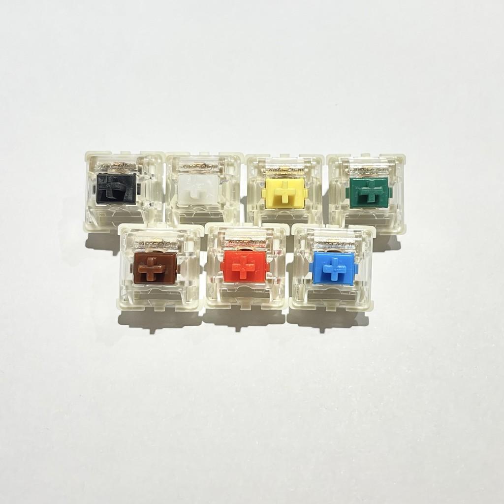 10顆 Gateron Switch黑軸 紅軸 青軸 茶軸 白軸 黃軸 綠軸 鋼板 SMD 機械式鍵盤 軸心 3腳 開關