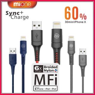 Mione MFi 2米 充電線 快充線 lightning 傳輸線 iPhone iPad 數據線 蘋果充電線 傳輸線