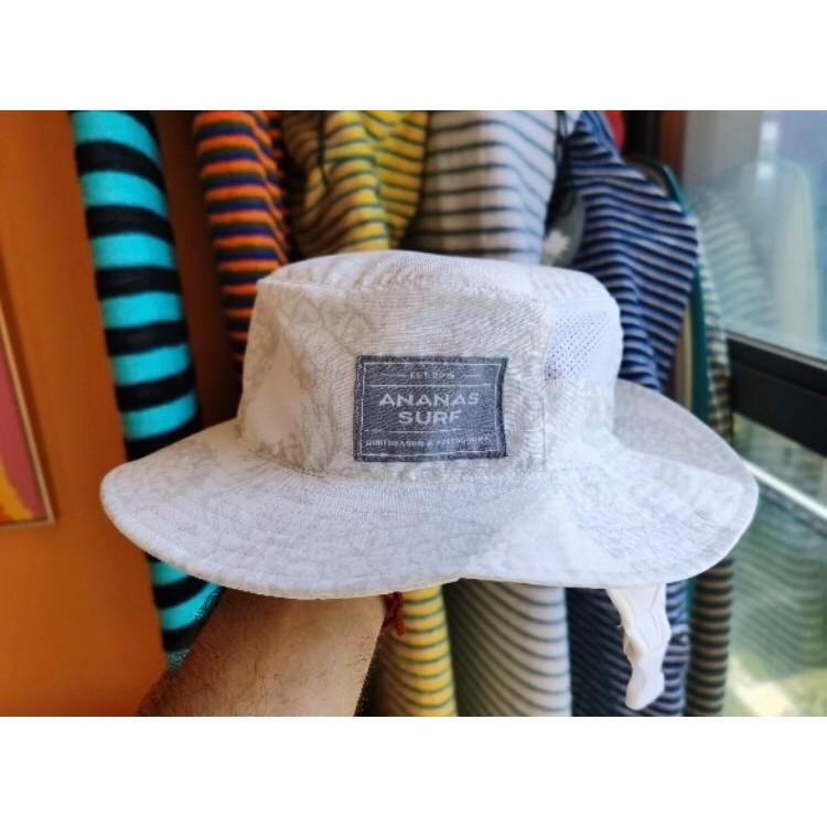 衝浪帽ANANAS SURF遮陽帽男女防曬漁夫帽沙灘透氣防紫外線頸部