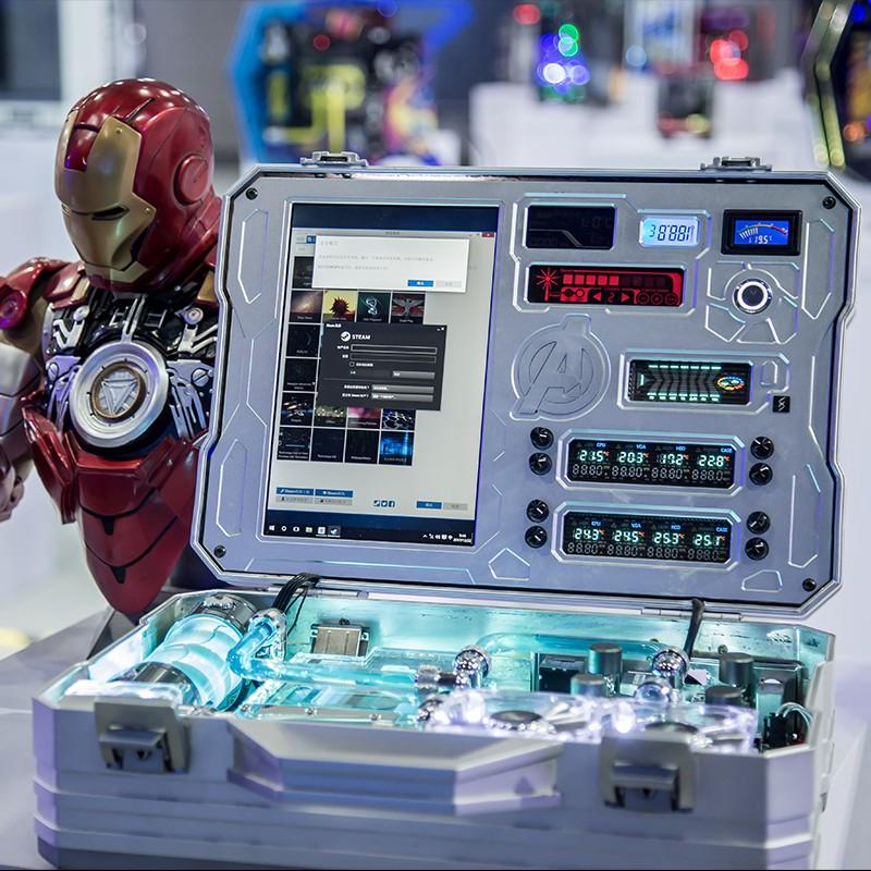 FUXK IRON MAN主題主機定制 i9 10900K/RTX 3090 水冷電腦 臺式機#東金靚淘