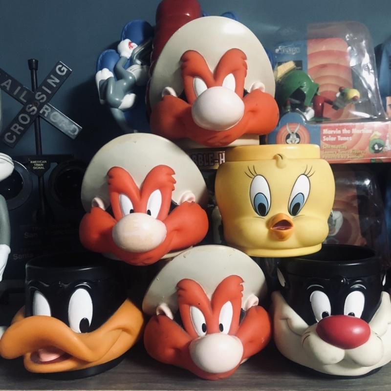 1995s 老玩具 早期卡通樂一通Looney Tunes 馬克杯 Konica