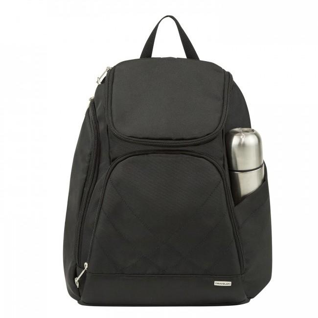 Travelon 美國 RFID 防盜 經典防盜後背包 後背包 可放置平板 手機 黑 TL-42310 綠野山房