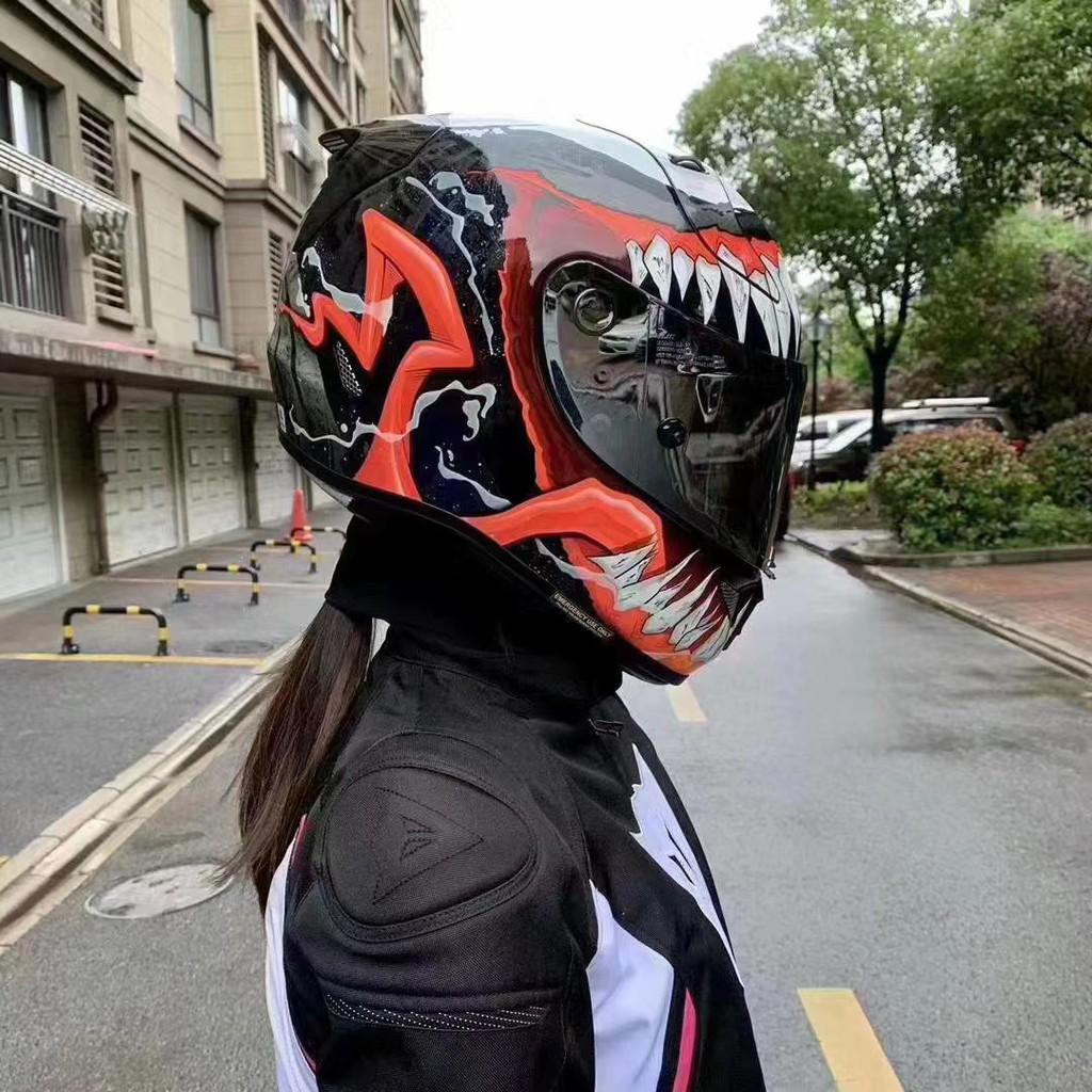 【下單前聊聊】AGV安全帽 HJC二代猛毒Pista 二代毒液全罩安全帽 透氣吸汗防霧機車騎士頭盔 機車騎士
