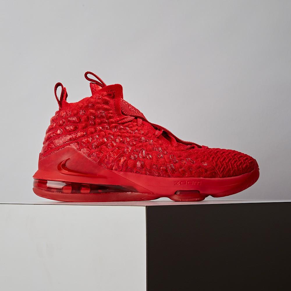 Nike LEBRON XVII (GS) 女大童 紅色 運動 籃球鞋 BQ5594-600