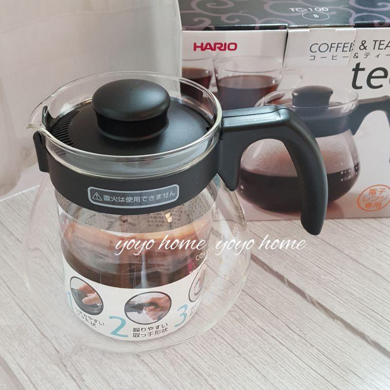 【yoyo home】日本製 HARIO TC100B 球型咖啡壺  耐熱玻璃壺1000ml