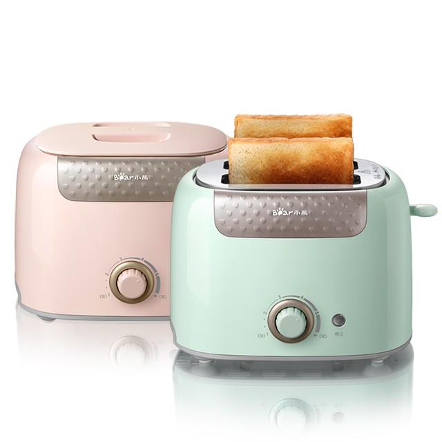 【現貨免郵】多功能烤麵包機小熊烤面包機家用片多功能早餐機小型多士爐加熱全自動迷你吐司機