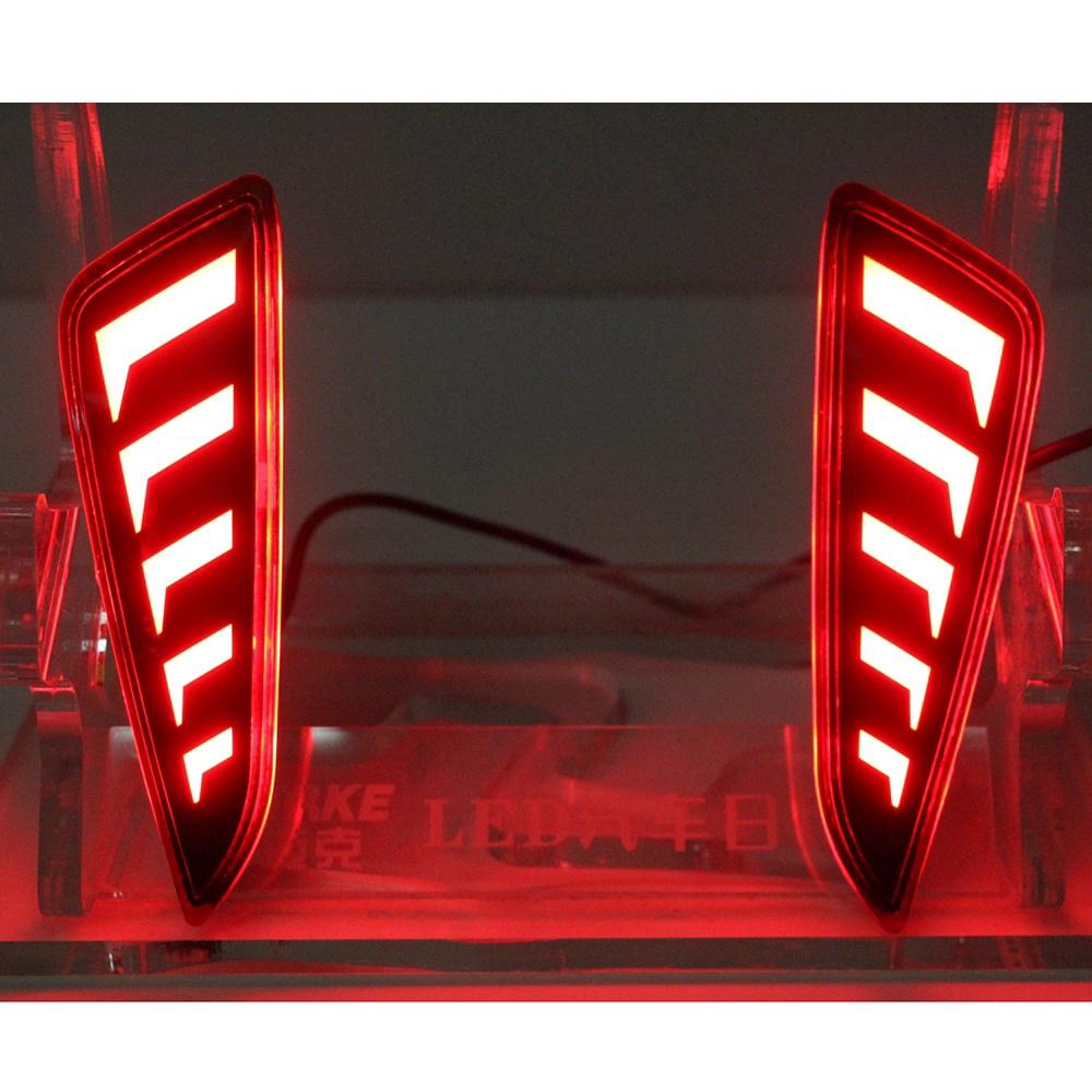 豐田 汽車後杠燈 獠牙款 Toyota C-HR 16-21年 二功能LED後保險槓尾燈 行車燈剎車燈 改裝專用 車燈