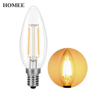 LED蠟燭燈燈泡E14燈泡替換家用複古4W 2Wled