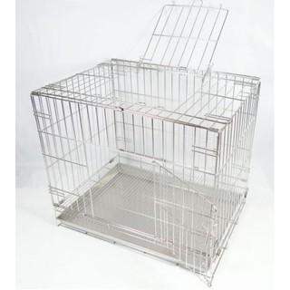 熱賣1台灣製-2尺(雙門活動折疊式/ 摺疊式)不鏽鋼/ 不銹鋼白鐵(304)狗籠/ 貓籠/ 兔籠/ 通用型寵物籠 花蓮縣