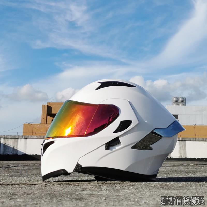 點點百貨優選-機車 安全帽 Orz頭盔男女電動摩托車揭面盔全盔尾翼半盔安全帽個性冬季機車灰