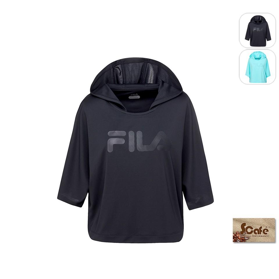 【FILA】女性 連帽T恤-黑 5TEU-1315-BK