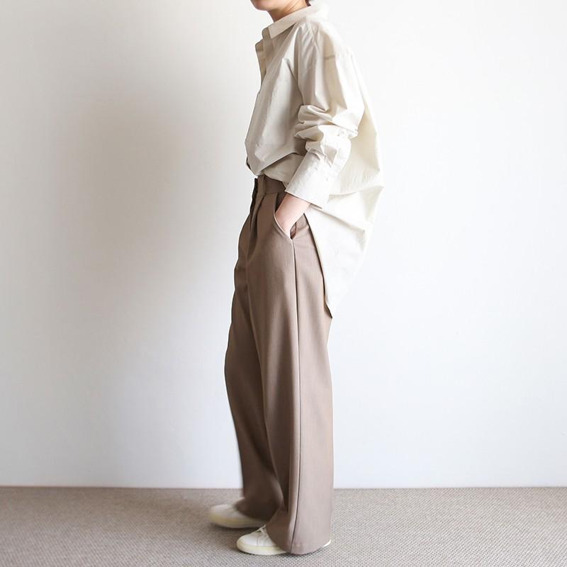 girlmonster 正韓 微寬鬆直筒休閒西裝褲(象牙白/米色/黑色) 【A0671】