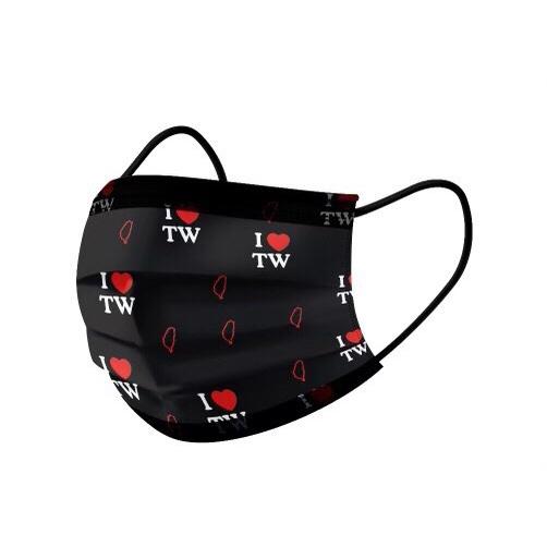 我愛台灣黑色 親子款【荷康🍀】🇹🇼台灣製造 MD雙鋼印 《丰荷》醫療級口罩
