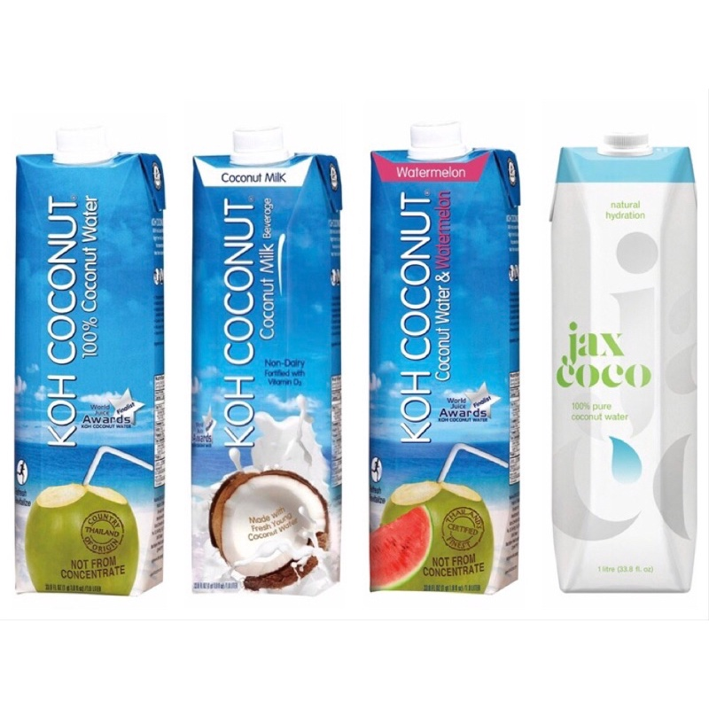 好市多 o Koh 純椰子汁 o 西瓜椰子水 o Coconut 椰奶  o Jax CoCo 純天然青椰子水