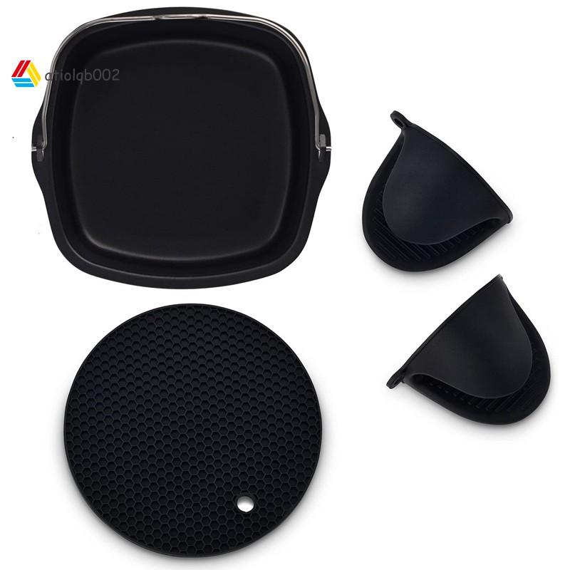 適用於飛利浦空氣炸鍋,Power 空氣炸鍋,Cozyna,矽膠烤箱手套的空氣炸鍋不粘烤鍋
