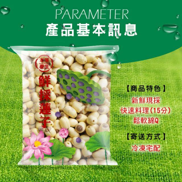 【本草養生】白河蓮子|新鮮現採|600g|可寄7-11冷凍店到店