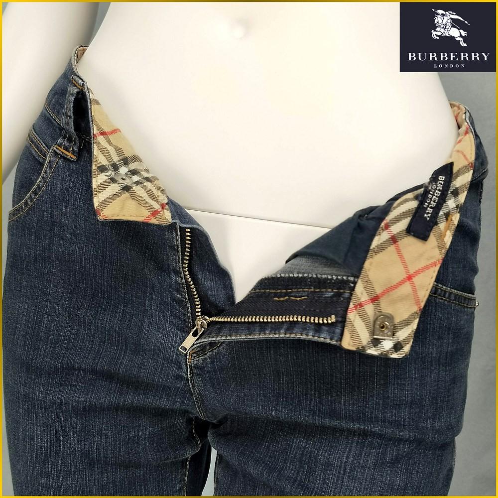 BURBERRY 女牛仔褲 彈性牛仔褲 中低腰 BURBERRY Burberry 牛仔褲 日系二手古著 A63F2B
