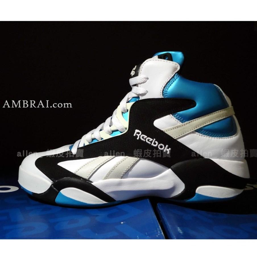 【AMBRAI.恩倍】 REEBOK SHAQ ATTAQ OG 大白鯊 俠客 歐尼爾 金屬藍 pump 充氣 籃球鞋