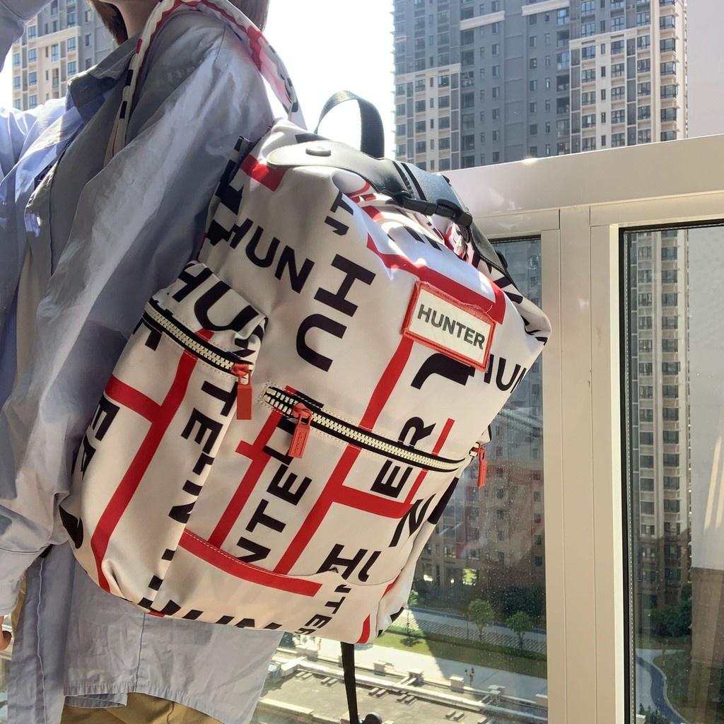 牛二妹優選《》HUNTER大號雙肩包英國潮牌網紅休閑學生包時尚輕便男女背包包
