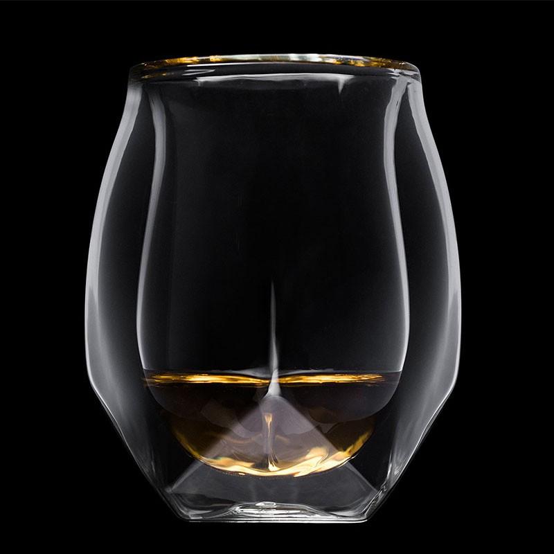 ☽♧超小眾!Glen Norlan諾蘭杯威士忌杯雙層酒杯ins威士忌大人網紅杯